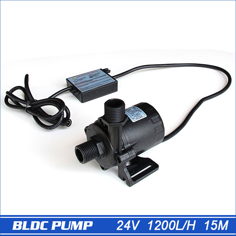 High pressure pump, 1560LPH 15M High Lift, 5 24V DC Submersible Small Water Pump, brushless DC motor Driven, for Hot Water