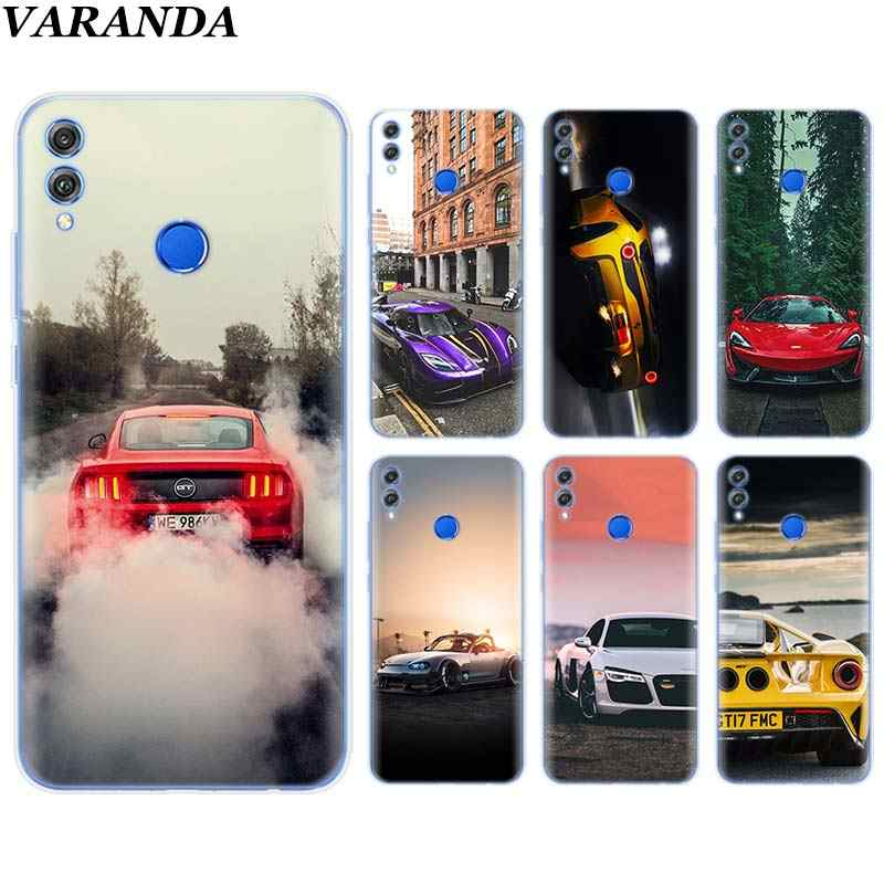 sport car lamp Silicone Soft Case for Huawei Honor 8X 8C 8S 8A 9 10 Lite 20i View 20 Y6 Y7 Y9 2019 Case Coque
