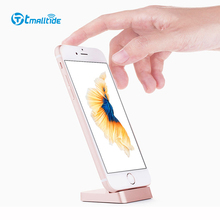 Tmalltide Charging USB Adapter For iPhone 7 6S Plus 5 SE Holder Magnetic Dock Metal Alloy Cable Holder Charging USB Adapter