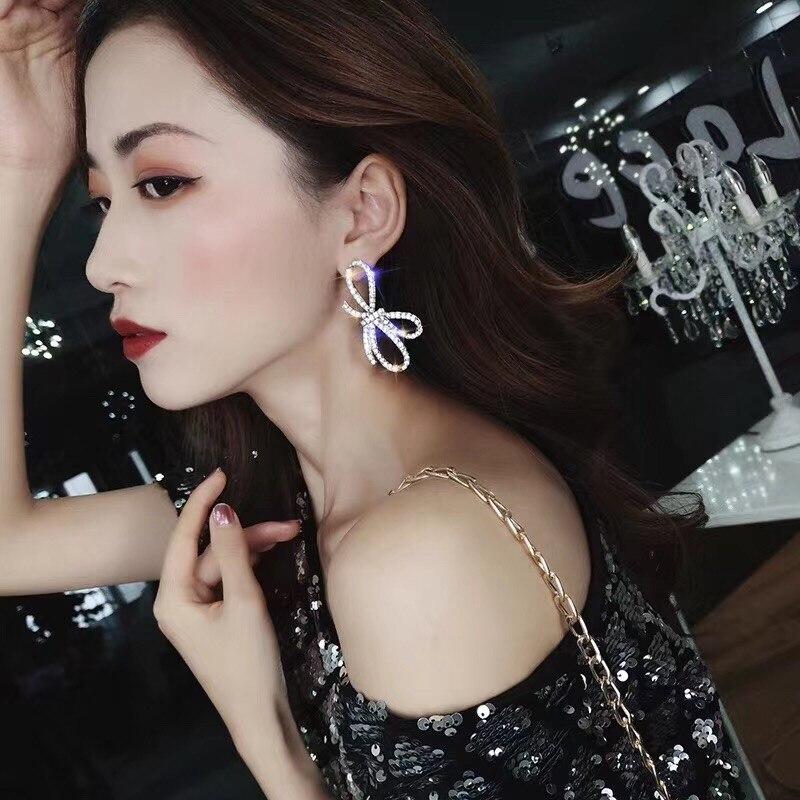 Dangle-Earrings Female Jewelry Butterfly Korean Classic Metal Fashion Women Bowknot