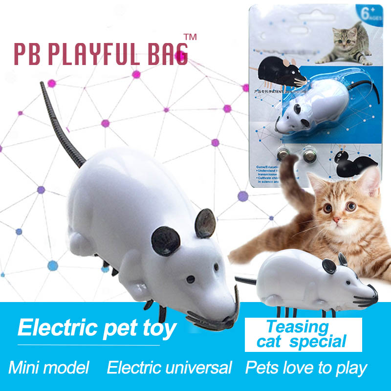 2018 New Hot Pet Cat Toys Electric Mouse Tease Cat Deity Vibration Electronic Pet Mouse Small Cat  Toy Simulation Mouse Gift