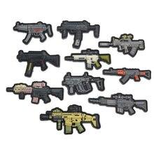 Пистолет образный ПВХ резиновые наклейки в полоску Военная Тактическая