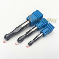 3PCS HRC55 Tungsten Steel Carbide double flute End Mill Bit Milling Cutter Tools Ball Nose CNC Router R 3,4,5mm