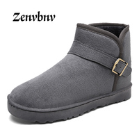 ZENVBNV Unisex Winter Snow Boots Brand Ankle Rubber Boots Fashion Female Winter Shoes Cheap Men Winter