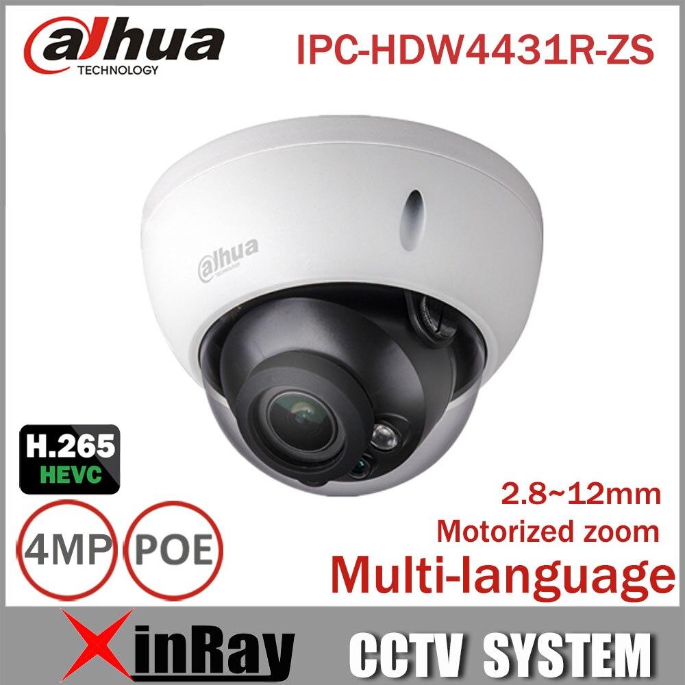 bilder für Dahua 4mp Ip-kamera IPC-HDBW4431R-ZS 2,8mm ~ 12mm Electric Zoom PoE IP Cctv-kamera Unterstützung IK10 IP67 Wasserdicht IR 50 Mt