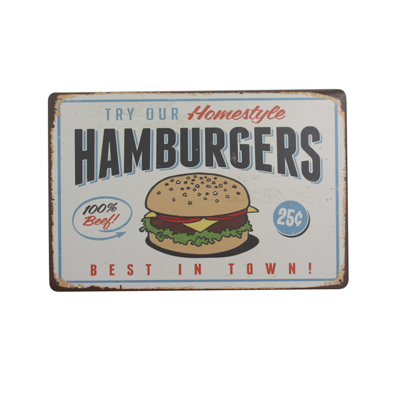 [ IDEA ]^_^20*30cm Food Vintage Metal Signs Home Decor Vintage Tin Signs Pub Vintage Decorative Plates Metal Wall Art