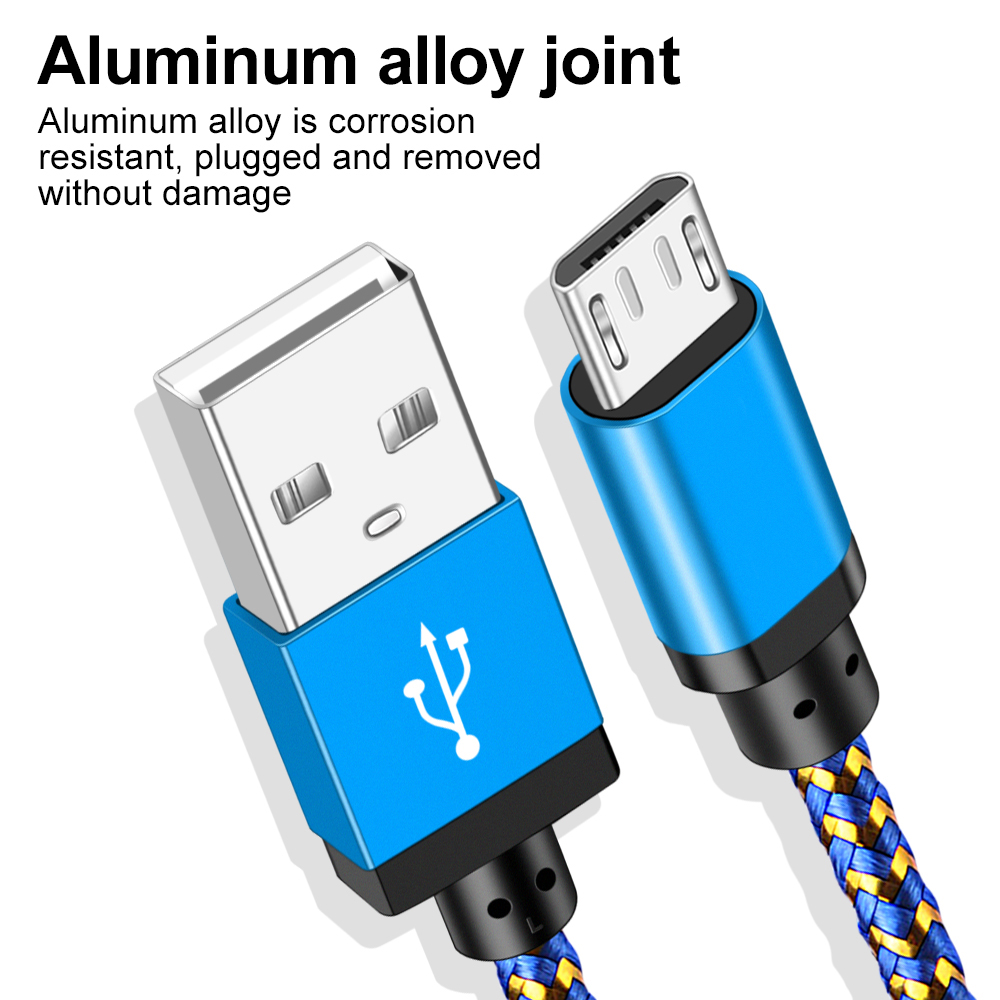 Micro USB Cable 1m 2m 3m Fast Charging USB Data Cable for Samsung S6 S7 Xiaomi 4X LG Tablet Android Mobile Phone USB Charging in Mobile Phone Cables from Cellphones Telecommunications
