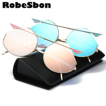 Hip Hop New Brand Cat Eye Fashion Sunglasses Women Summer Cute Alloy Retro Glasses Ladies Pink Vintage Round Gafas