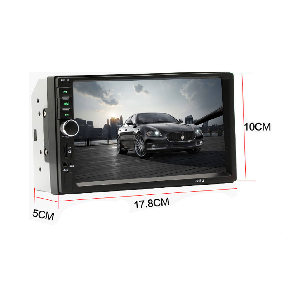 Podofo 2 Din 7'' Car Radio GPS Navigation Autoradio Touch Screen Car Audio Multimedia Player Bluetooth upport Rear View Camera