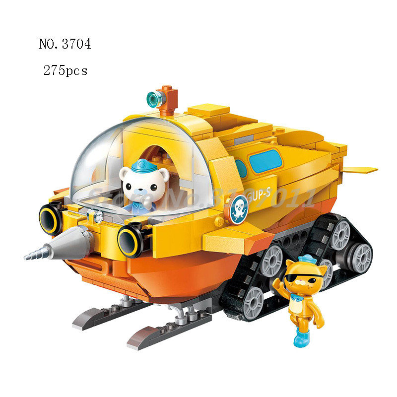 The Octonauts Building Blocks GUP-S Polar Exploration Vehicle & Barnacles Kwazii Educational Enlighten Bricks Toys For Children все цены