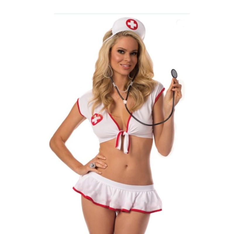 Buy Cosplay Nurse Sexy Costumes Uniforms Plus Size XXXL Erotic Lingerie Women Porn Baby Doll Sexy Lingerie Hot Erotic Dress