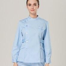 2017 Europe Fashion Medical Suit Lab Coat Women Hospital Scrub Uniforms set Design Slim Fit Breathable Medical Uniform