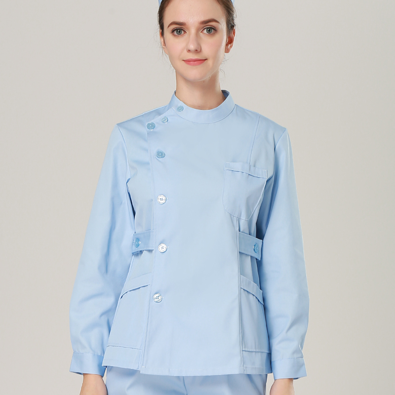 2019 Europa Mode Medicinsk Suit Labcoat Kvinder Hospital Skrubuniformsæt Design Slim Fit Åndbar medicinsk uniform