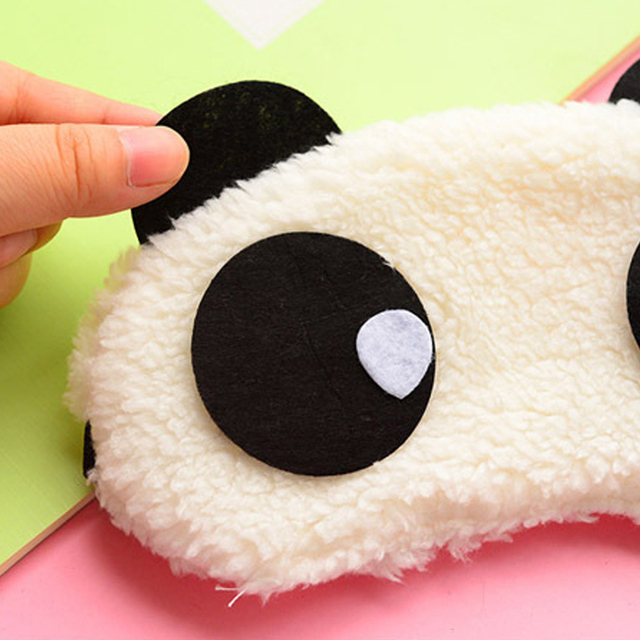 Hot Comfortable Korean Style Soft lovely Cartoon Pure Cotton sleep Eye Shade Cute Animal shading Ice Portable Hot Panda Eye Mask 4