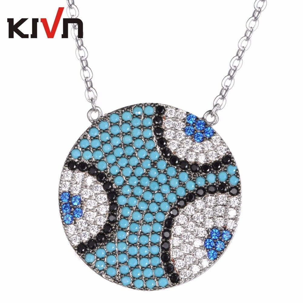 KIVN Womens Fashion Jewelry Turkish Blue eye Pave CZ Cubic Zirconia Bridal Wedding Pendant Necklaces Girls Mothers Day Gifts
