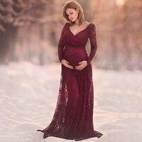 2018妊娠ドレス妊婦マタニティ写真撮影小道具なマタニティウェディングドレスマキシドレスガウン用写真撮影