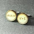 personalized  cuff links , Wedding cuff links , shirt cuff links ,  initials cuff links , Anniversary gift