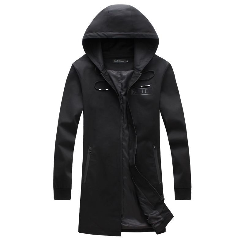 2016 spring new style Men s leisure fashion hooded jackets Trench coat Men s business casual