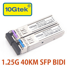 10Gtek A Pair SFP BIDI Optical Module,1000Base-BX40 GLC-BX-D/GLC-BX-U 40km 1310/1490nm 1.25Gb Transceiver LC Connector