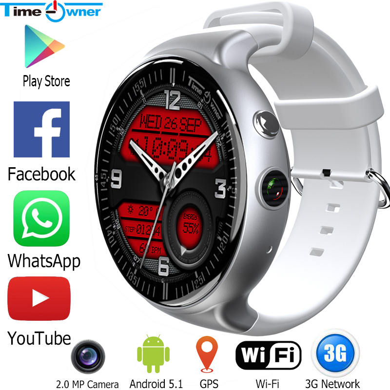 Time Owner TW2s Smart Watch Android 5 1 OS Bluetooth Clock MTK6580 1G RAM 16G ROM