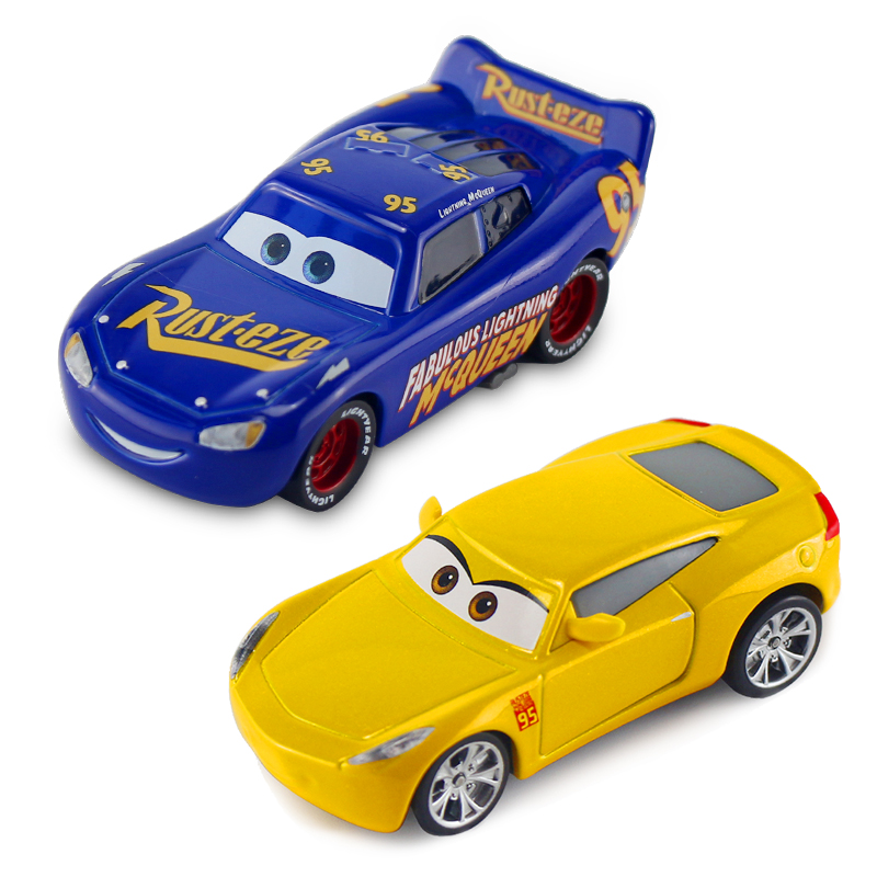 Disney Pixar Cars 2 3 Newest Fabulous Lightning McQueen Jackson Storm Cruz Ramirez Mater Metal Alloy Car Model Kid Christmas Toy