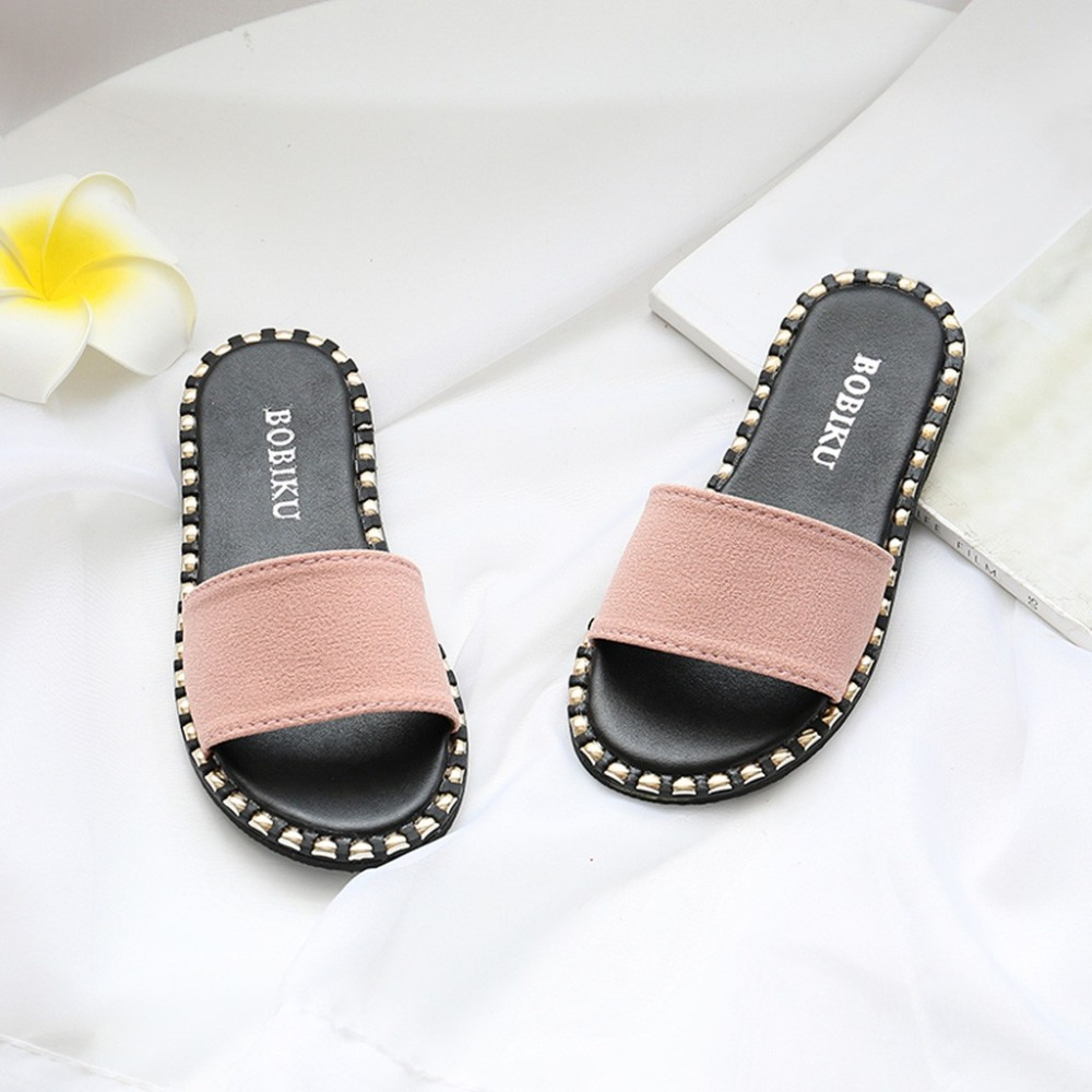 Summer Modis Slipper Children Kids Infants Baby Girls Candy Color Flat Slipper Casual Shoes Slipper Girls  Flat Slipper Shoes slipper