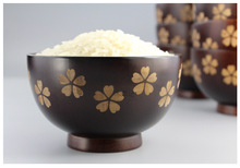 1PC Natural wood tableware Sakura bowl food grade jujube Japanese-style wooden LC 014