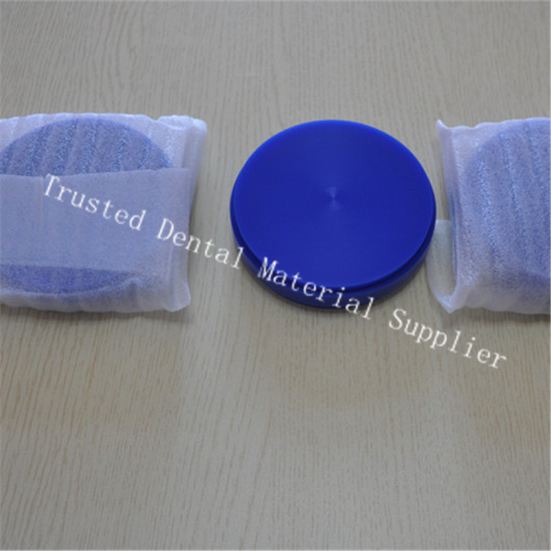 Wholesale 50 Piece OD98*14 MM Dental Lab Materials Wax Blocks Wieland System Blue White Carving Blank Dental Wax Disc For Crowns
