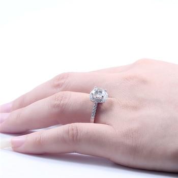 TransGems 14K 585 White Gold 1.5 Carat Diameter 7.5mm Lab Grown Moissanite Diamond Engagement Wedding Ring for Women 5
