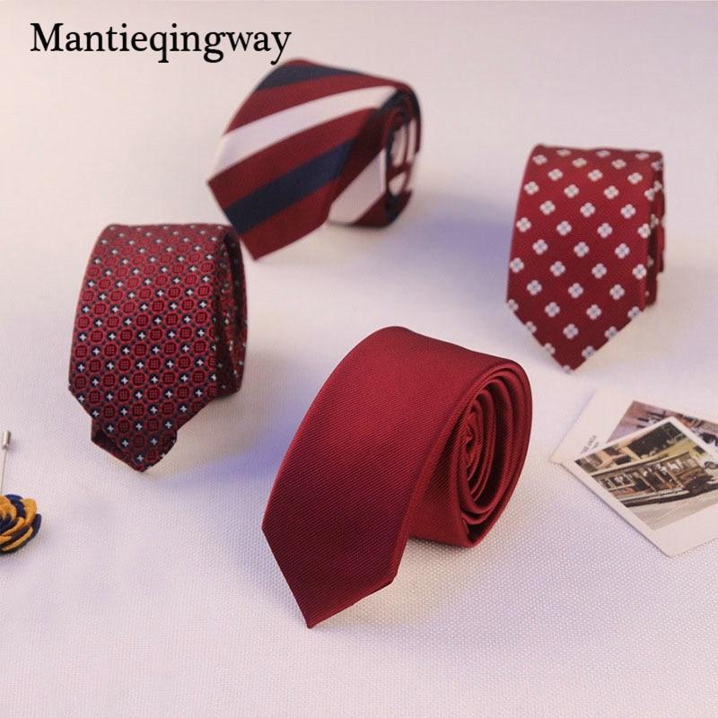 Mantieqingway Marque Dot   Rayé Cravates Polyester Soie 5 cm Maigre ... a6e779a466c