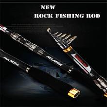 New 99% Carban Rock Fishing Rod 2.1M 2.4M 2.7M 3.0M 3.6M High Quality Folding Fiber Telescopic Fishing Tackle Rod China