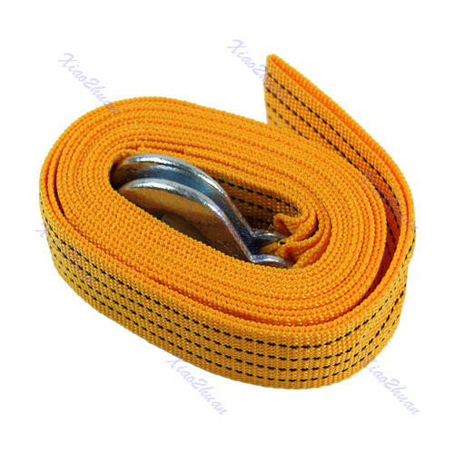 Free Delivery Car Van 4M 5 Ton Tow Towing Pull Rope Strap Hooks Heavy Duty Road Recovery New