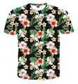 2017 Fashion Men 3D Printing T-shirt Causal O-Neck Short Sleeves Clothing for Male Colorful Flower Tee Shirt