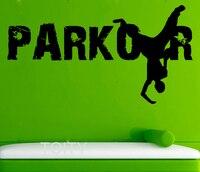 Parkour Wall Decals Street Sport Vinyl Stickers Cool Teen Room Home Interior Design Art Murals School