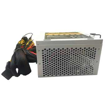 Quiet 700W 12V PC Power Supply 700W 24pin ATX Computer Power Supply PSU 700W PC Gaming Power with 7 Colorful LED Light MAX 850W