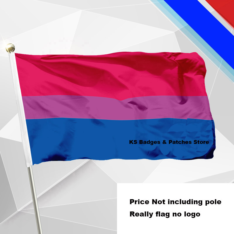 Bisexual <font><b>Pride</b></font> <font><b>Flag</b></font> Flying <font><b>Flag</b></font> #4 144x96(3x5FT) #1 288x192 #2 240x160 #3 192x128 #5 96x64 #6 60x40 #7 30x20 image