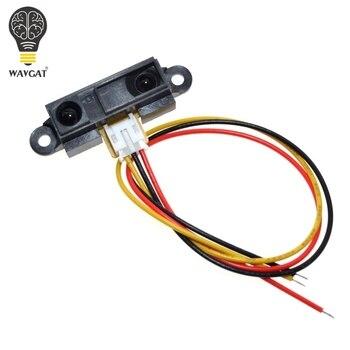 WAVGAT GP2Y0A21YK0F GP2Y0A21 czujnik zbliżeniowy na podczerwień IR analogowy czujnik odległości VE713 10-80cm na podczerwień czujnik odległości