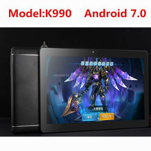 2018 K990 Octa Core 10.1 Inch tablet MTK8752 Android Tablet 4GB RAM 64GB ROM Dual SIM Bluetooth GPS Android 7.0 10 Tablet PC