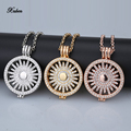New 33mm my coins pendant necklace set disc fit 35mm coin holder frame rhinestone crystal with 80cm chain fashion women christma