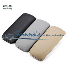 High quality car accessories Leather Center Console Armrest Cover storage Lid For 1999 2000 2001 2002 2003 2004 2005 AUDI A6 C5