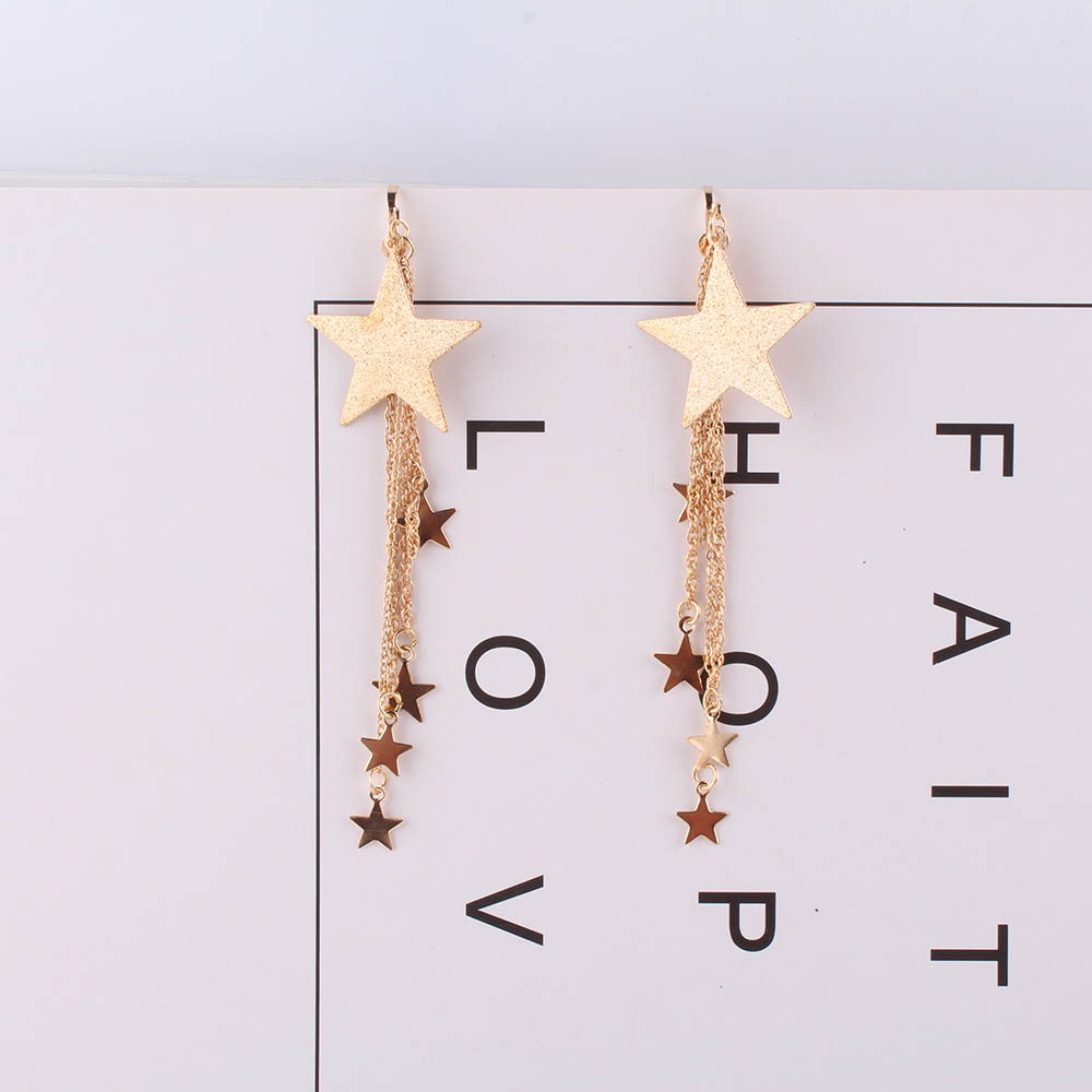JIOFREE Elegant Gold silver Lucky Star Clip on Earrings For Women Wedding party Fashion Jewelry Wholesale Cute Christmas Gift