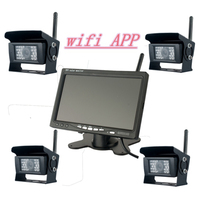 WIFI APP Camera for Truck / Bus Rear View Monitoring with 28LED Night Vision Waterproof 170 Degree Cam