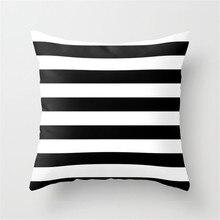 45x45 см Милая уникальная наволочка для подушек, полосатая наволочка с принтом, домашний подарок, Hogard MY1218