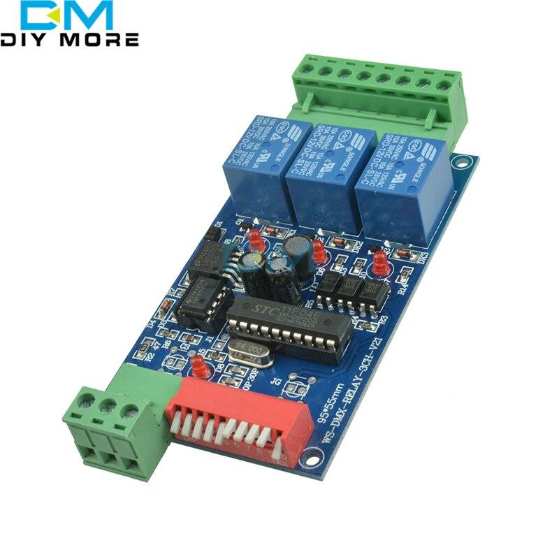 цена на DC12V 10A 3 Channel DMX512 Relays Controller LED Dimmer Decoder Use for RGB LED Lamp Strip