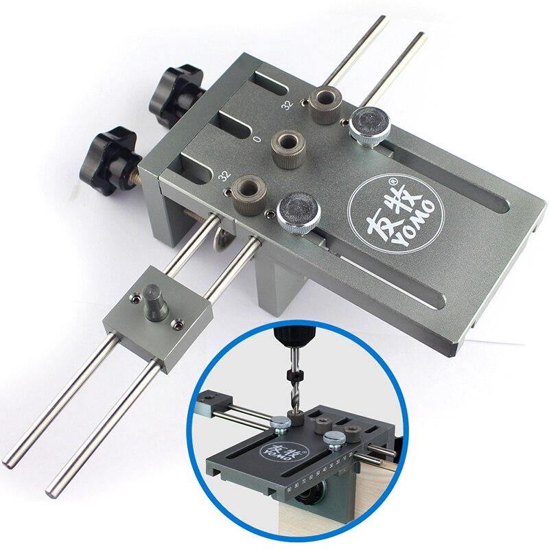 Drei in einem schlag stellungs Dowelling Jig für Möbel Schnelle Anschluss Holzbearbeitung Drill Guide Kit Lage
