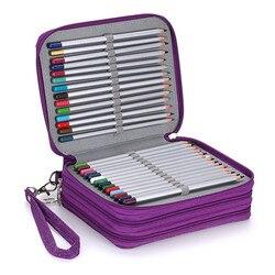 소녀 소년을위한 학교 연필 케이스 옥스포드 penal 펜 가방 72 구멍 대형 연필 케이스 멀티 레이어 방수 상자 편지지 용품
