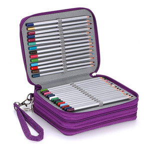 Image 3 - Oxford Phạt Học Chì Lớn Bút Túi 72 Lỗ Pencilcase 3 Lớp Hộp Bút Chì Túi Cho Bé Gái Bé Trai NGHỆ THUẬT Văn Phòng Phẩm