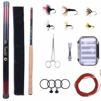 13FT Tenkara Rod Combo Fly Rod Telescoping Fishing Pole Line Fly Box