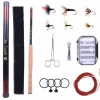 13FT Tenkara Rod Combo Fly Rod Telescoping Fishing Pole Line Fly Box