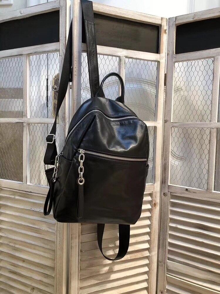 Kafunila femmes véritable sac à dos en cuir pour ordinateur portable grand sac à dos mochilas bolsa feminina mode 2018 sac d'école des filles à dos